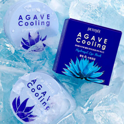 Патчи для век PETITFEE с АГАВОЙ Agave Cooling Hydrogel Eye Mask