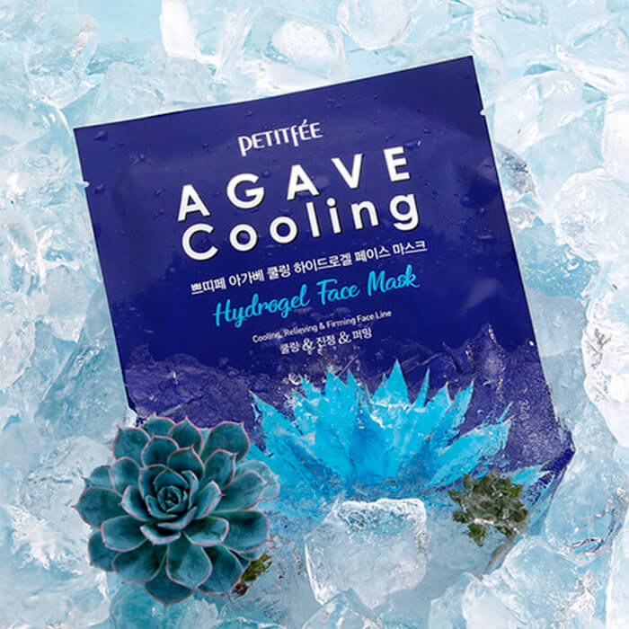 Маска для лица PETITFEE c агавой Agave Cooling Hydrogel Face Mask