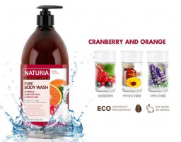 Гель для душа NATURIA клюква/апельсин pure body wash (Cranberry & Orange)