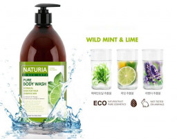 Гель для душа NATURIA мята/лайм pure body wash (Wild Mint & Lime)